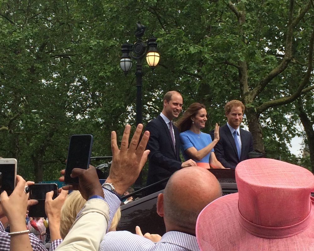 the royals on the mall for charity event