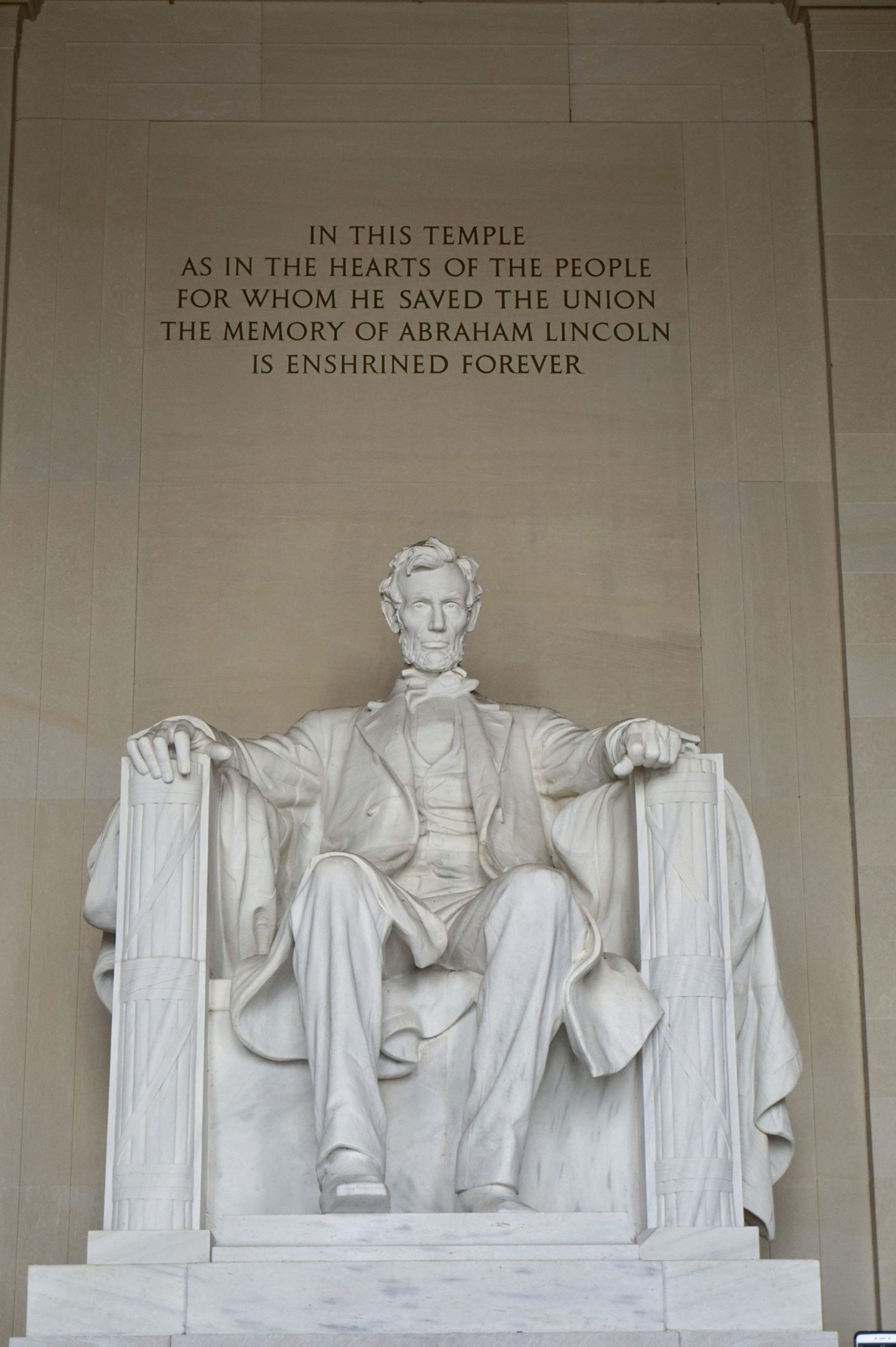 Lincoln monument in Washington dc