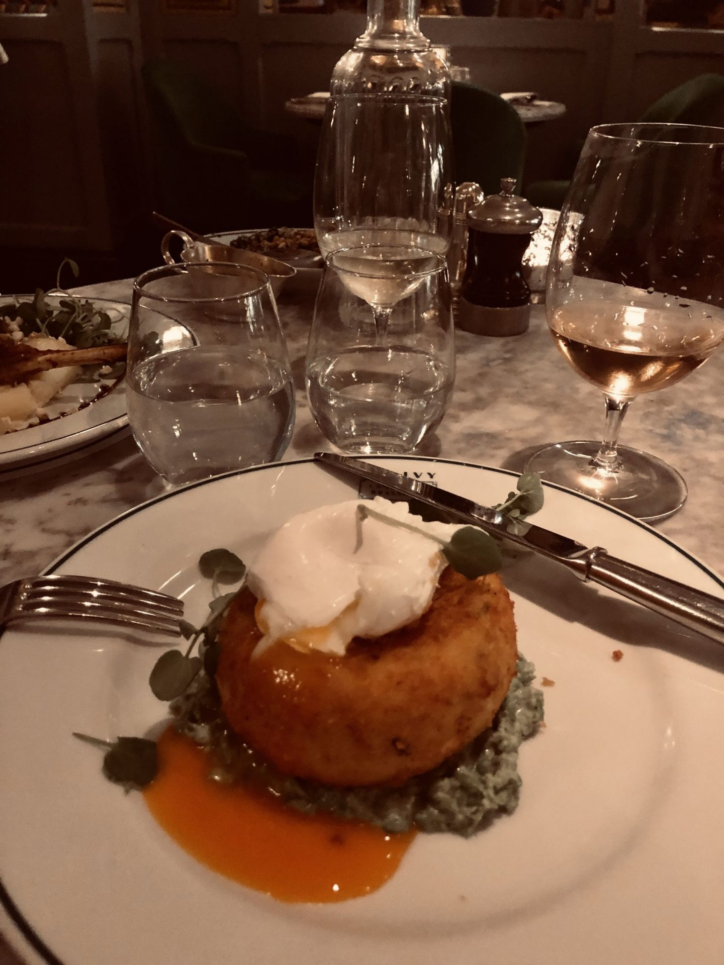 fish cake ivy brasserie
