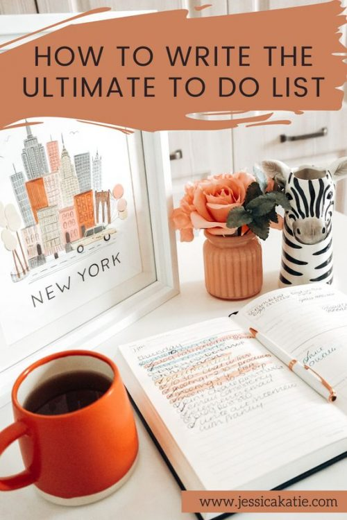 how to write the ultimate to do list